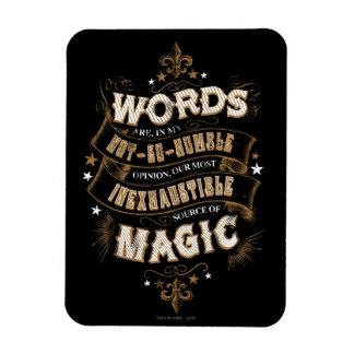Magnet Flexible Les mots du charme | de Harry Potter sont notre la