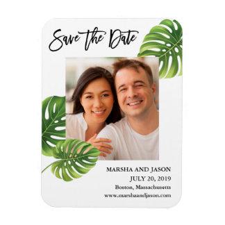 Magnet Flexible Les palmettes tropicales sauvent l'aimant de date