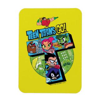 Magnet Flexible Les titans de l'adolescence vont ! collage de tour