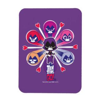 Magnet Flexible Les titans de l'adolescence vont ! Emoticlones de