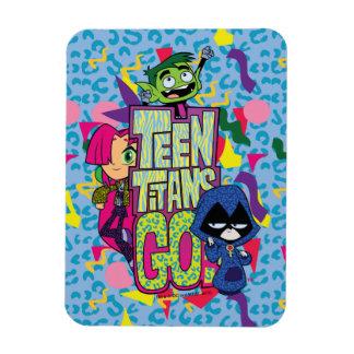 Magnet Flexible Les titans de l'adolescence vont ! logo de poster