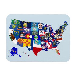 Magnet Flexible L'état américain de carte marque l'aimant de