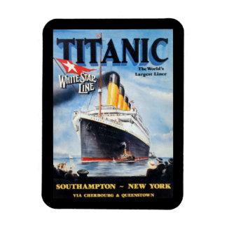 Magnet Flexible Ligne blanche titanique d'étoile - le plus grand