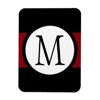 Magnet Flexible Ligne noire, blanche et rouge élégamment élégante