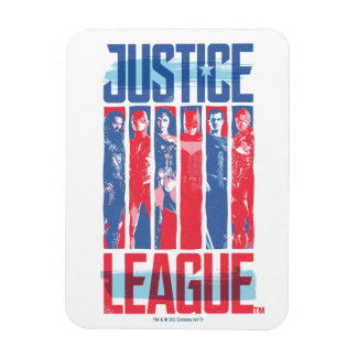Magnet Flexible Ligue de justice art bleu et rouge de | de groupe