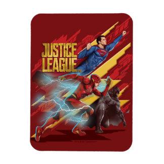 Magnet Flexible Ligue de justice | Superman, éclair, et insigne de
