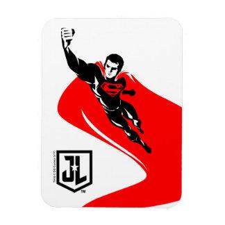 Magnet Flexible Ligue de justice | Superman pilotant l'art de