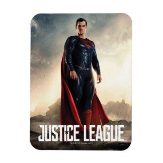 Magnet Flexible Ligue de justice   Superman sur le champ de