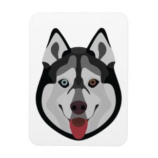 Magnet Flexible L'illustration poursuit le chien de traîneau