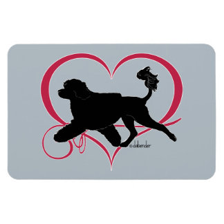 Magnet Flexible Lion portugais de coeur de chien d'eau