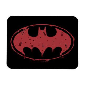 Magnet Flexible Logo de suintement de batte rouge de Batman |