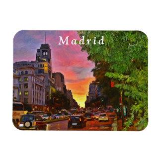 Magnet Flexible Madrid. Coucher du soleil coloré au-dessus de