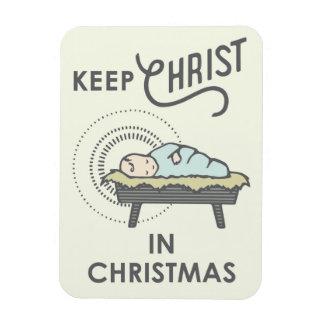 Magnet Flexible Maintenez le Christ dans l'aimant de Noël