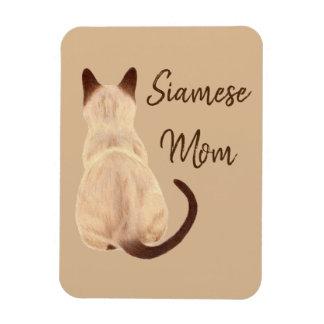 Magnet Flexible Maman Kitty de chat siamois de Sasha semblant le