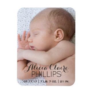 Magnet Flexible Manuscrit moderne du faire-part de naissance | de