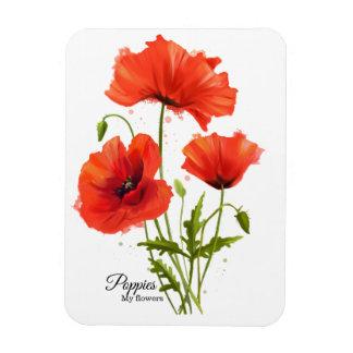 Magnet Flexible Mes pavots de fleurs