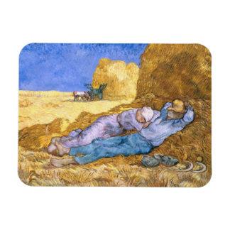 Magnet Flexible Midi de Vincent van Gogh  , la sièste, après