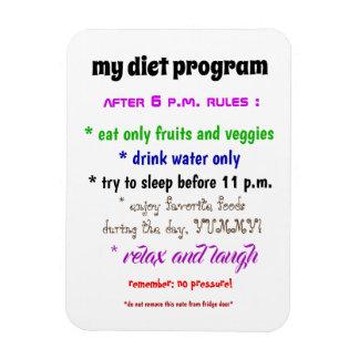 Magnet Flexible Mon aimant de programme de régime