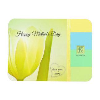 Magnet Flexible Monogramme en pastel de photo de tulipe de palette