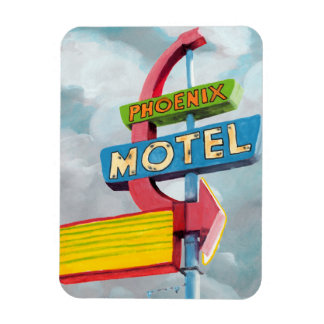 Magnet Flexible Motel de Phoenix d'aquarelle