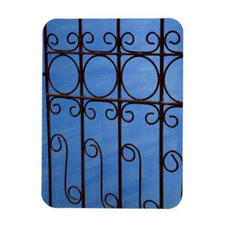 Magnet Flexible Motif de porte de fer dans le bleu, Cuba
