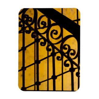 Magnet Flexible Motif de porte de fer en jaune, Cuba