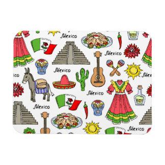 Magnet Flexible Motif de symboles du Mexique |