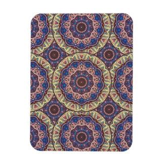 Magnet Flexible Motif floral ethnique abstrait coloré de mandala