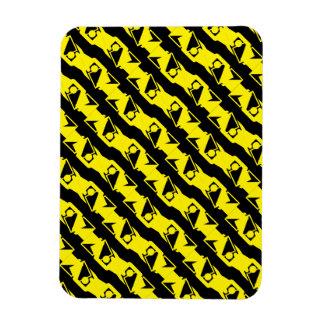 Magnet Flexible Motif moderne jaune noir et lumineux unique et