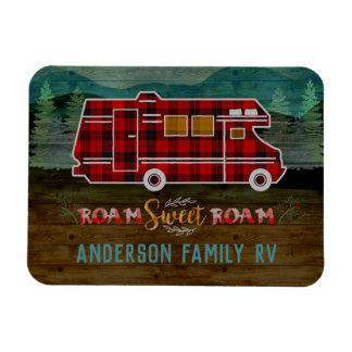 Magnet Flexible Motorhome rv Camper Travel Van Rustic Personalized