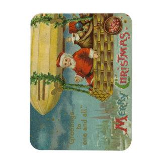 Magnet Flexible Noël drôle victorien vintage de Père Noël de