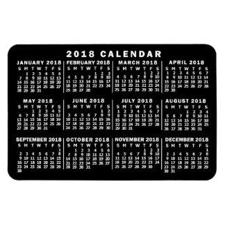 Magnet Flexible Noir et blanc classique de calendrier mensuel de