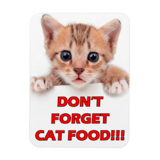 """Magnet Flexible """"N'oubliez pas les aliments pour chats !"""" Aimant"""