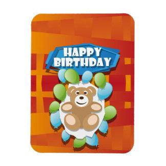 Magnet Flexible Nounours de joyeux anniversaire d'illustration