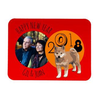 Magnet Flexible Nouvel aimant heureux de photo de cadre de l'année