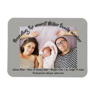 Magnet Flexible Nouvelles annonces de photo de famille de bébé