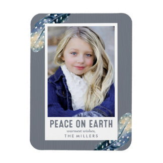 Magnet Flexible Paix sur la photo de vacances de la terre  