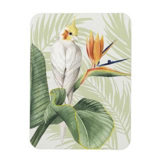 Magnet Flexible Palmettes avec l'oiseau blanc