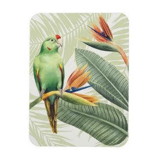 Magnet Flexible Palmettes avec l'oiseau vert