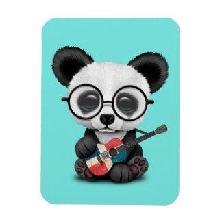 Magnet Flexible Panda de bébé jouant la guitare dominicaine de