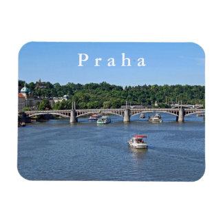 Magnet Flexible Panorama de la rivière de Vltava à Prague
