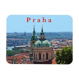 Magnet Flexible Panorama de Prague avec l'église de Saint-Nicolas