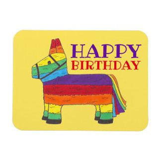 Magnet Flexible Partie de fiesta de Pinata d'âne d'arc-en-ciel de