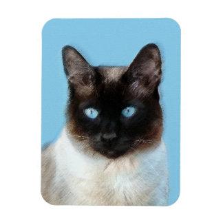 Magnet Flexible Peinture de chat siamois - art original mignon de