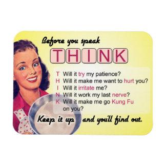 Magnet Flexible Pensez avant que vous parliez (G) évalué