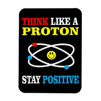 Magnet Flexible Pensez comme Proton, positif de séjour