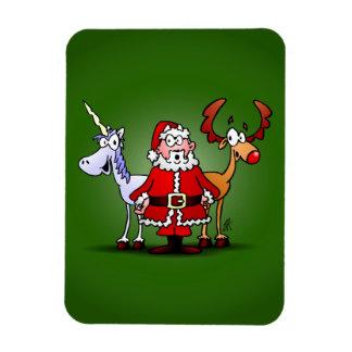 Magnet Flexible Père Noël, renne et une licorne