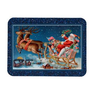 Magnet Flexible père Noël vintage pilotant l'aimant de câble de