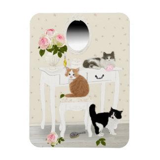 """Magnet Flexible PetitRose """"salon de beauté de chatons"""", aimant"""