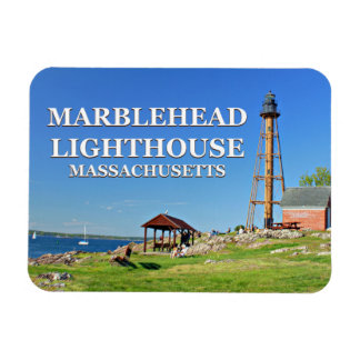 Magnet Flexible Phare de Marblehead, aimant du Massachusetts Flexi